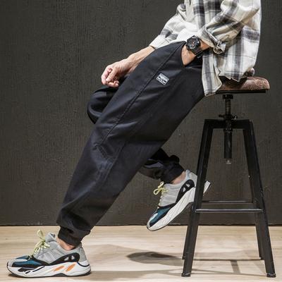 2019秋季新原创马切达日系大码宽松布标束脚休闲裤男长裤K382-P45