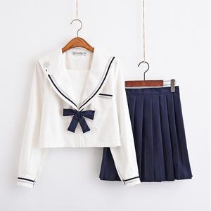 正统日系不良少女jk制服套装软妹学院风校服班服百褶裙可爱水手服