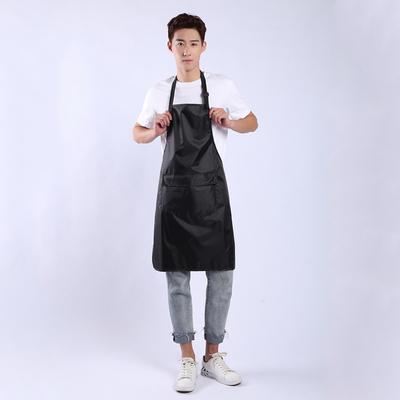 防水围裙奶茶店服务员防水工作服简约围腰男女韩版时尚pvc围裙