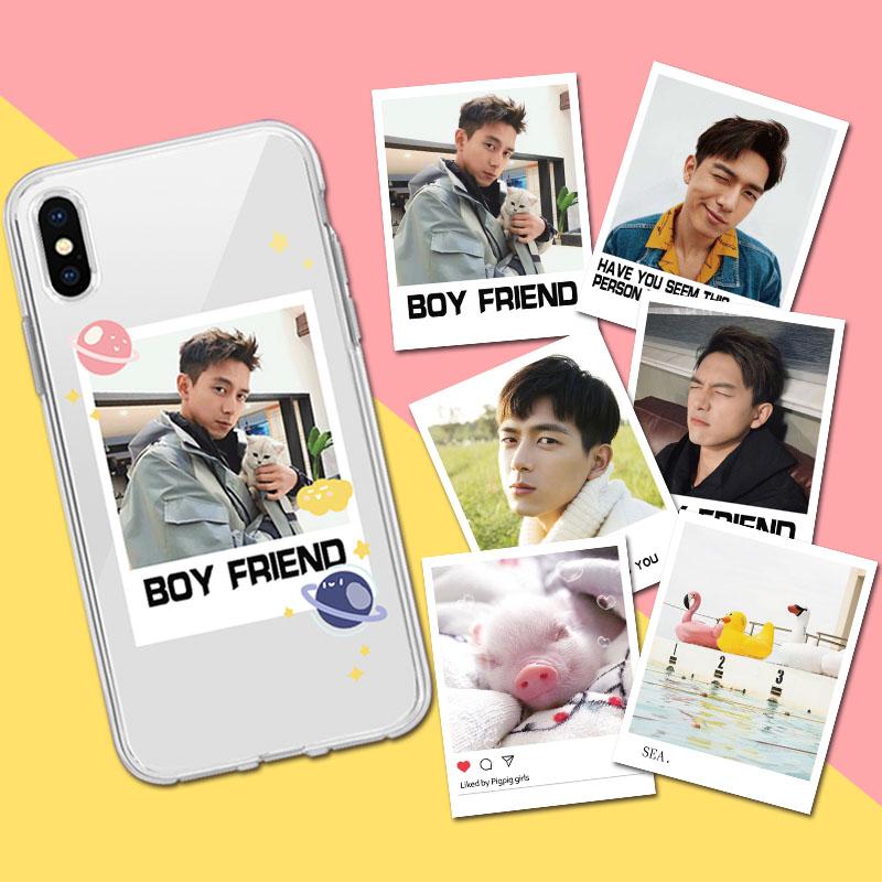 苹果x手机壳7全包max女8plus七6s五se李现同款6p网红卡片xrxs潮男(非品牌)