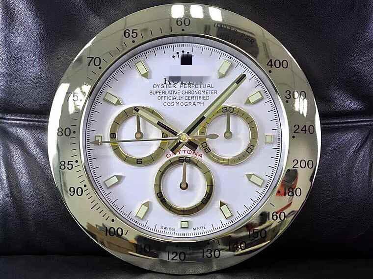 Выброс стиль Часы настенные Rolex Часы настенные Ditona Mute Время в пути Светящийся диаметр 34 см стиль опциональный
