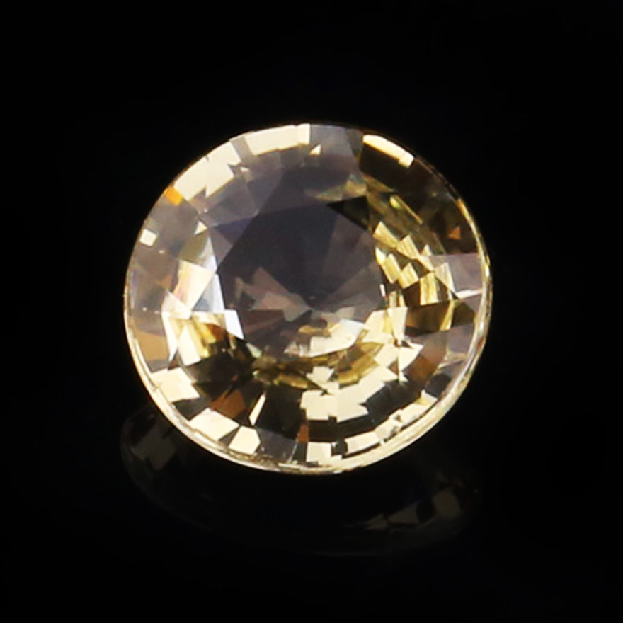 [gem / NGTC dual syndrome] 1.22ct unburned pure round yellow sapphire like diamond color