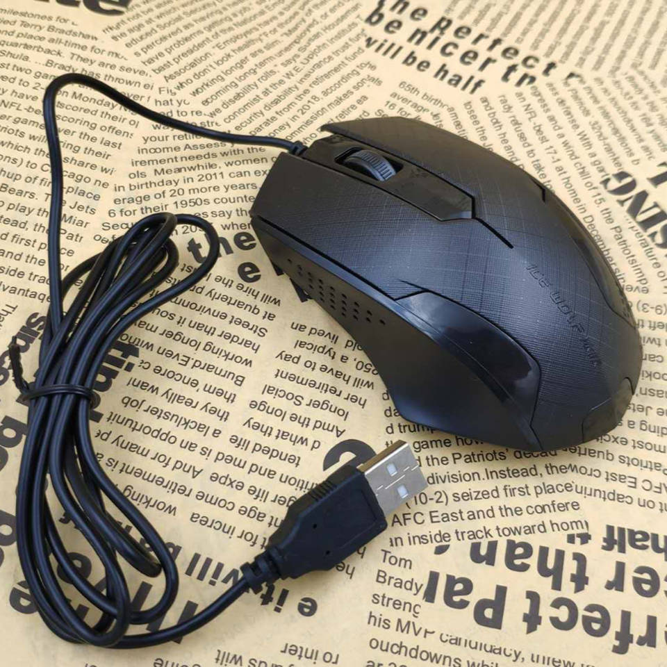 有线鼠标笔记本台式办公电脑通用可爱小巧男女生联想家用