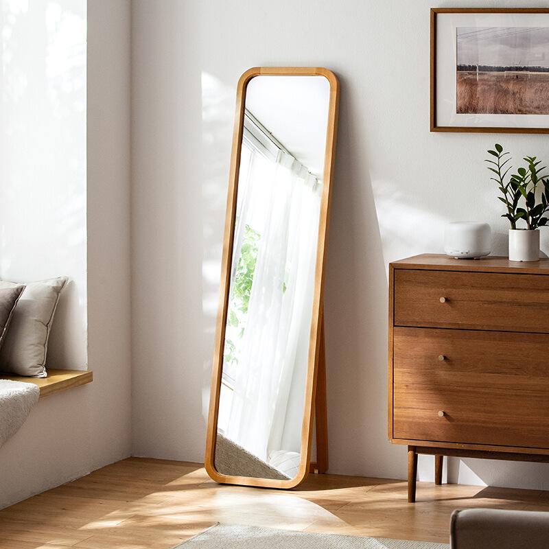 木质女家用卧室穿衣宿舍落地全身镜12月01日最新优惠