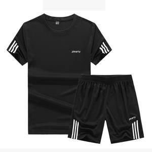 男士运动套装2019夏季休闲透气短袖