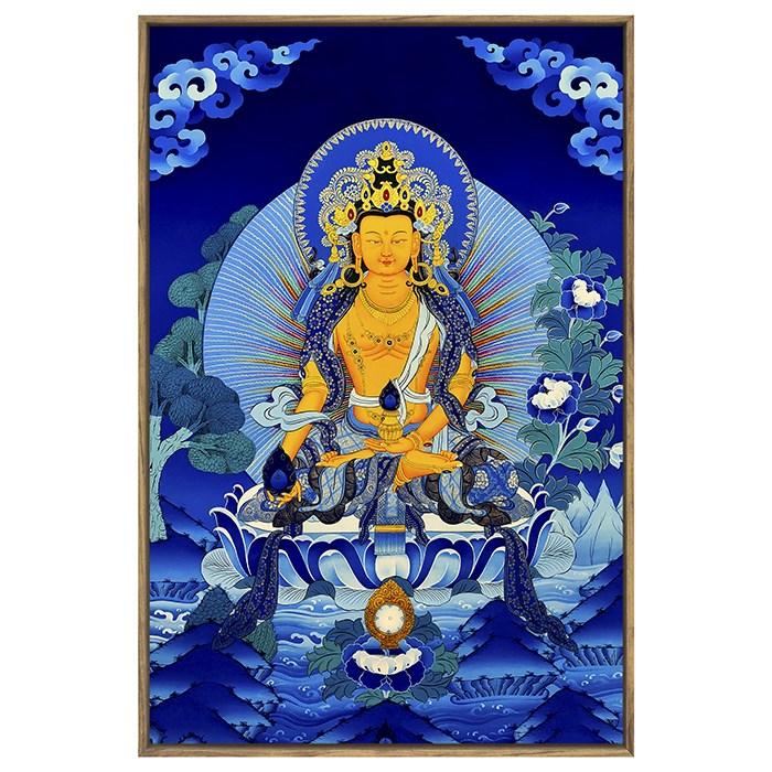 Thangka Buddha, great filial piety, great wish, deyedi Tibetan king Bodhisattva, decorated Zen room, hotel, club, teahouse, living room, hanging picture