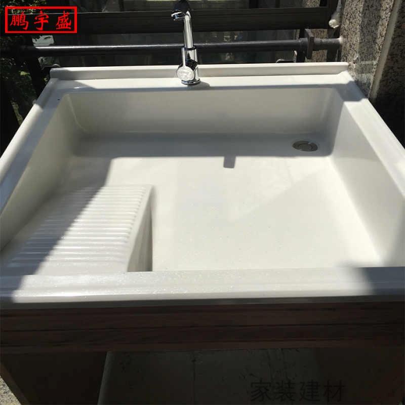 小型组合阳台太空铝洗手台3洗脸盆有赠品