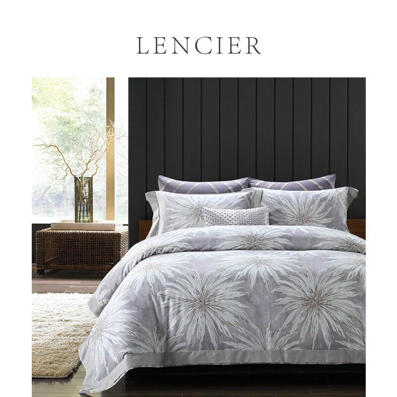 Lencier Lanxu freehand painted large flowers autumn and winter moulting pure cotton bedding set reed