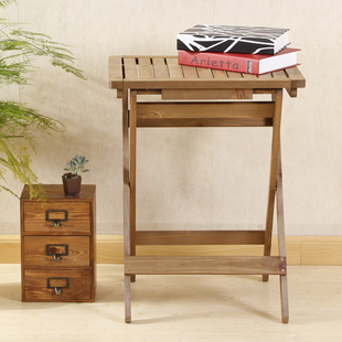 Single dining table wooden square table table folding table