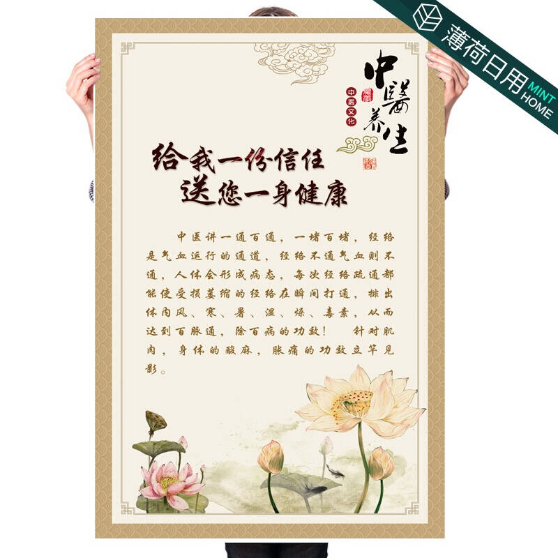 Poster of traditional Chinese medicine physical therapy culture