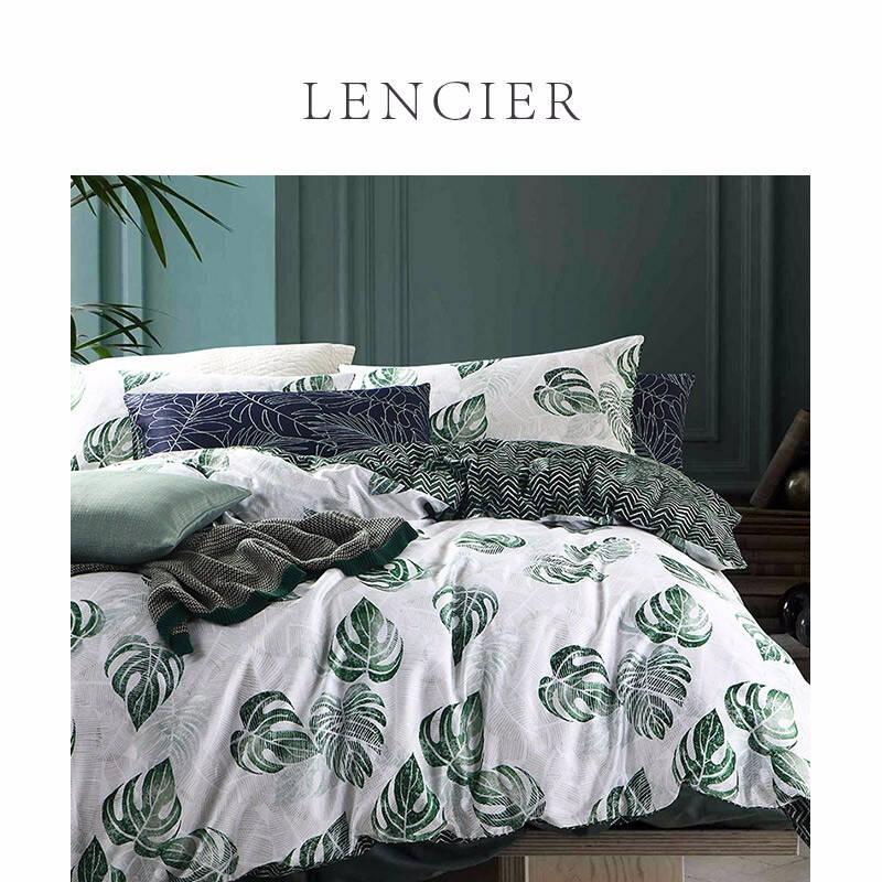 Lencier lanshugraviss summer hand painted watercolor printed all cotton four piece bed set