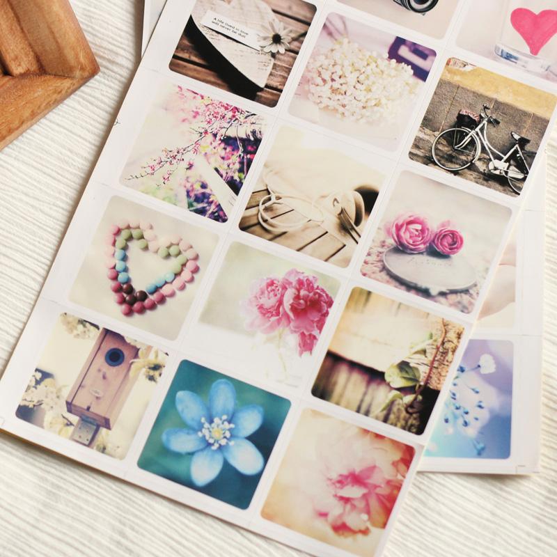 Чистой древесины «молодой ЛОМО наклейки» альбом дневник декоративные наклейки мультфильма искусства клип