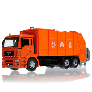 1 32MAN green car green city garbage truck alloy car model toy cars for children
