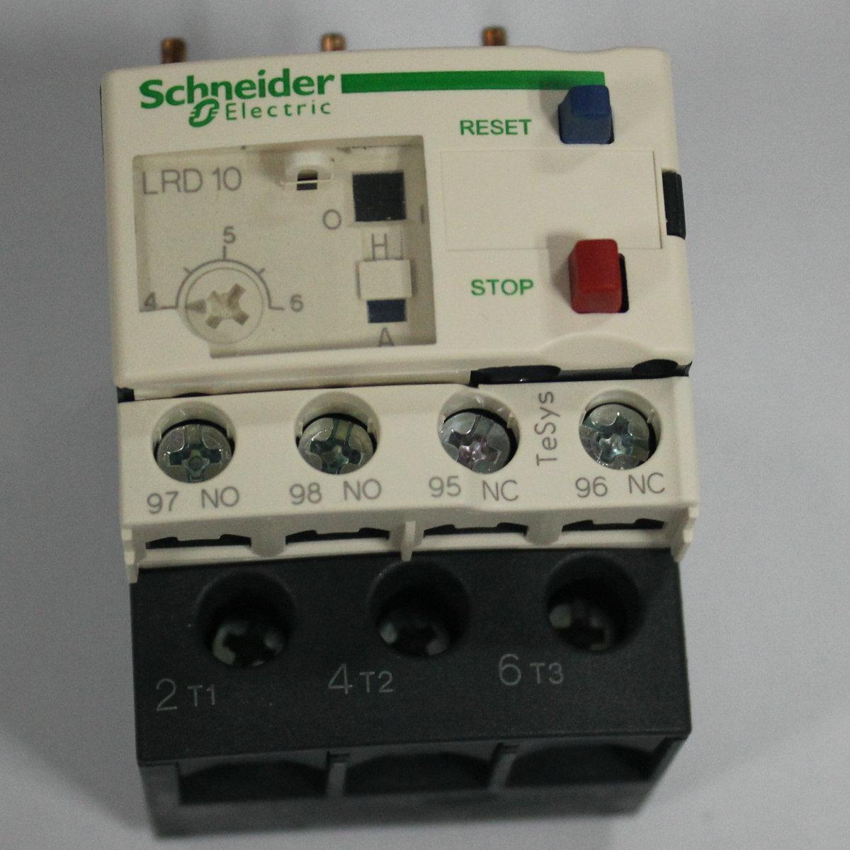 施耐德继电器(热过载)LR-D12C  LRD12C 5.5-8A 保证