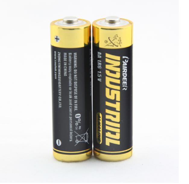 5号电池 双鹿碱性电池 英文出口工业简装LR6干电池1.5V一次性电池