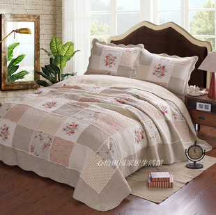 Bedding cotton exports Patchwork Quilt bed covers three American family of four air conditioning was quilt bedspread Continental