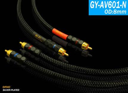 YARBO/雅堡 GY-AV601-N 镀银铜发烧级 信号音频线  1米1.5米