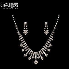 Wedding accessories Bridal Accessories Bridal jewelry wedding jewelry 2 piece set necklace earrings jewelry