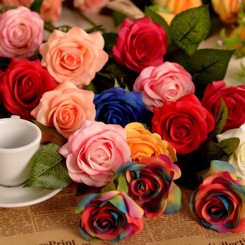 Искусственный цветок розы увлажняющий шелковые дома чувствует поддельный гостиной цветок цветок договоренность цветок 0,03
