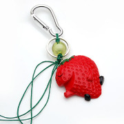 Smiling cute Strawberry charm pendant jewelry accessory creative personality key ring 351761