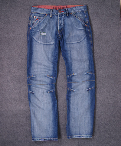 Export to UK foreign trade original Danchao brand white worn jeans mens loose straight low waist pants worn