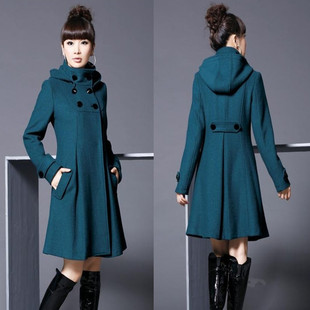 Add fertilizer to increase size women woolen coat fat MM Autumn 2015 Korean version of the fall and winter fat sister thick woolen coat