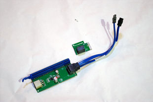 PCI E extension cable with PCI E video card auxiliary power supply support FAH