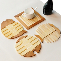 The free fish wooden coasters Placemat pad | pads | insulation pad pad pad pad | bowl kitchen table number