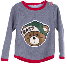 The new 2014 children's clothes The boy han edition cute teddy bear pattern jacket shirt t-shirts Pure cotton fleece thickening