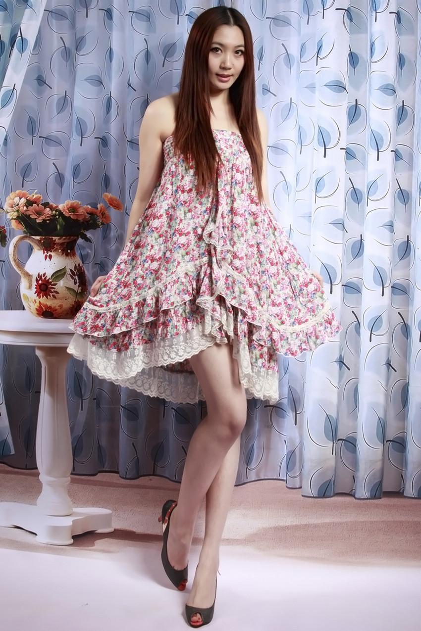 2012新款女装碎花蕾丝花边拼接超仙美半身裙大摆半身长裙两种穿法