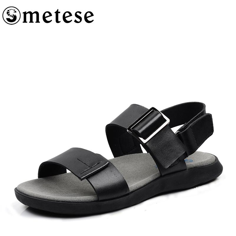 Человек он Sen подлинной Распродажа корейской версии кожаные мужские сандалии спец прилив мужской досуг-сланцы