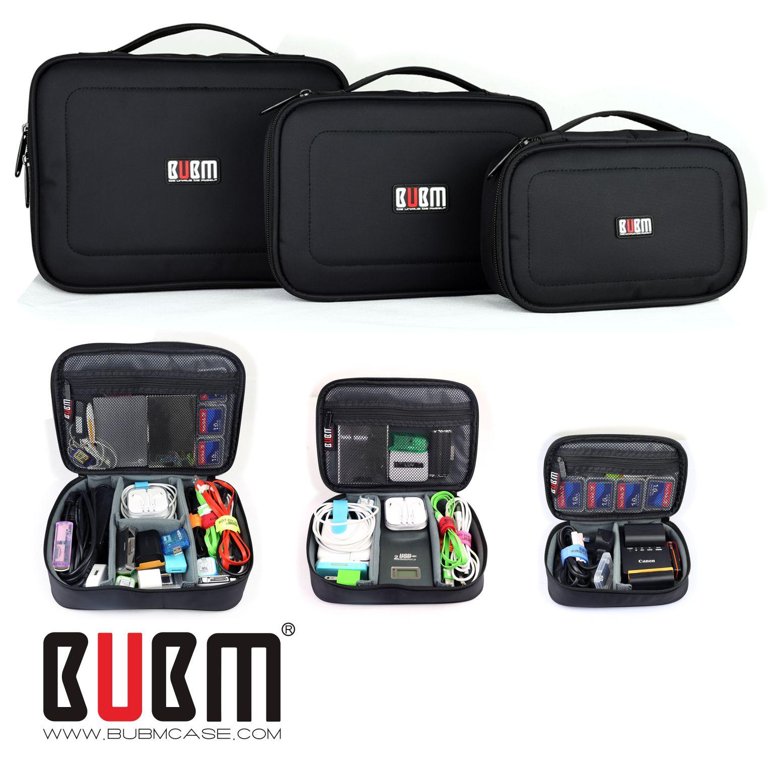 BUBM多功能收纳包套装数码配件包移动硬盘盒充电器U盘配件整理袋耳机盒手机大容量旅行小包便携电子产品收纳