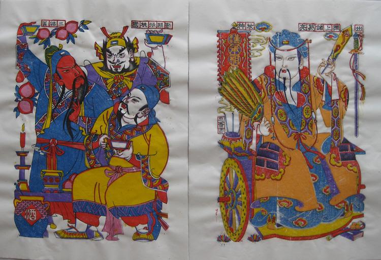 潍坊年画 三国演义人物 孙忠会作品 一套7张 可单张购买20元/张