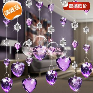 Cheap Korean soulmate crystal bead curtain curtain curtain off feng shui home screen entrance finished living room