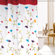 High quality polyester fabric shower curtain flowers of contemporary and contracted fair maiden romantic grand wind upset with special offer to send ring