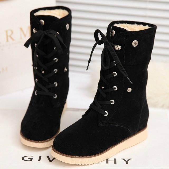 Дамы мягкие зимние сапоги в зимний женщин плоским дном и вниз баррель, увеличилось в мягкий хлопок обувь снега сапоги девочек зимняя обувь
