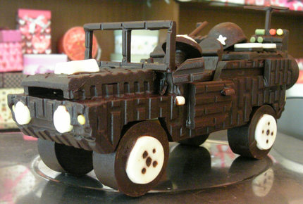 VV52L吉普车★巧克力纯脂创意手工DIY精美刻字写字生日情人节礼物