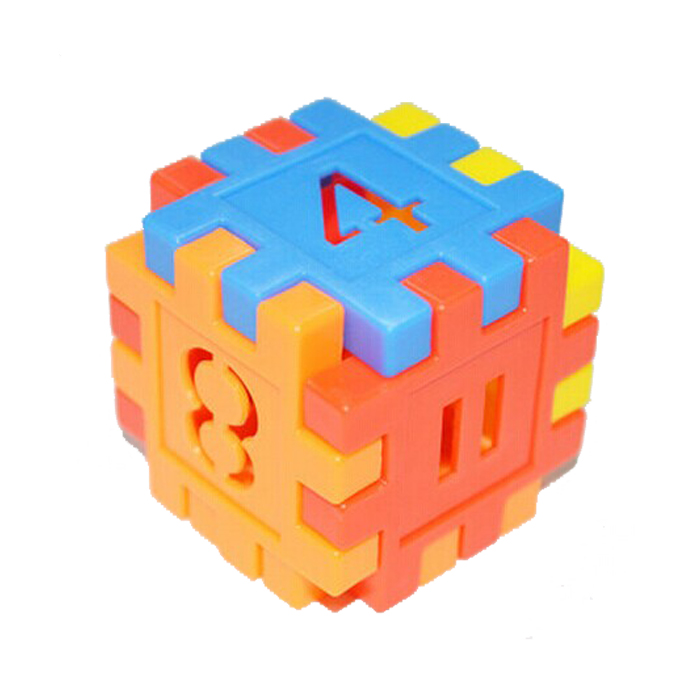 Authentic thickened digital square snowflake flake building blocks for childrens educational toys