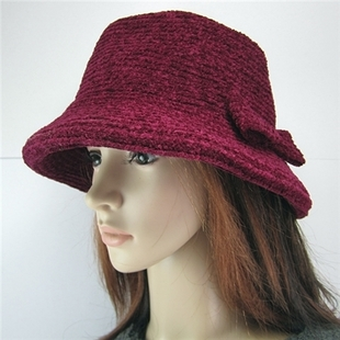Chenille fashion thick warm winter hat lady hat snow cap old lady hat