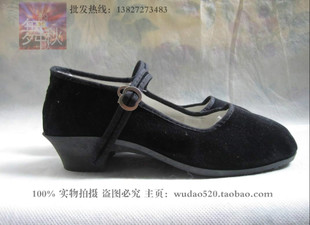 Yunqiu dance song authentic old Beijing cloth shoes Square Yangko dance shoes lady shoes ethnic shoes with velvet
