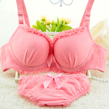 a55e5391c4 City beauty Japanese girl lovely BoMo cup together 3 double-breasted sexy bra  underwear set
