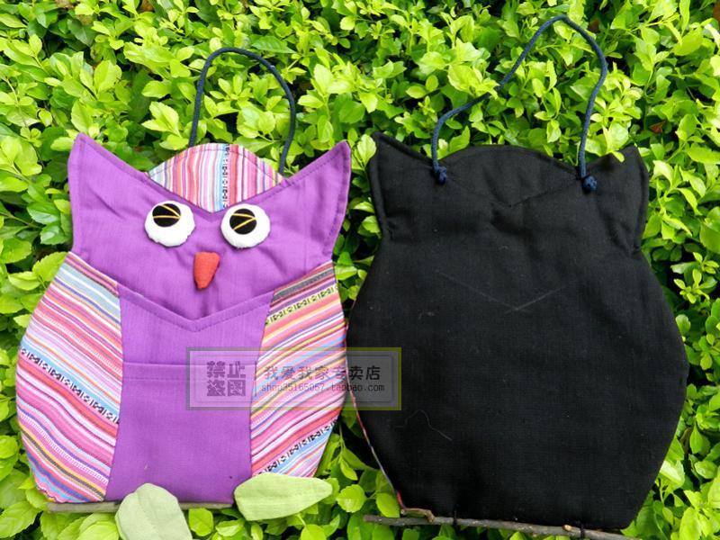 Ткань сова настенный люди между оригинал один животное письмо мешок мода письмо вставить декоративный кулон многоцветный