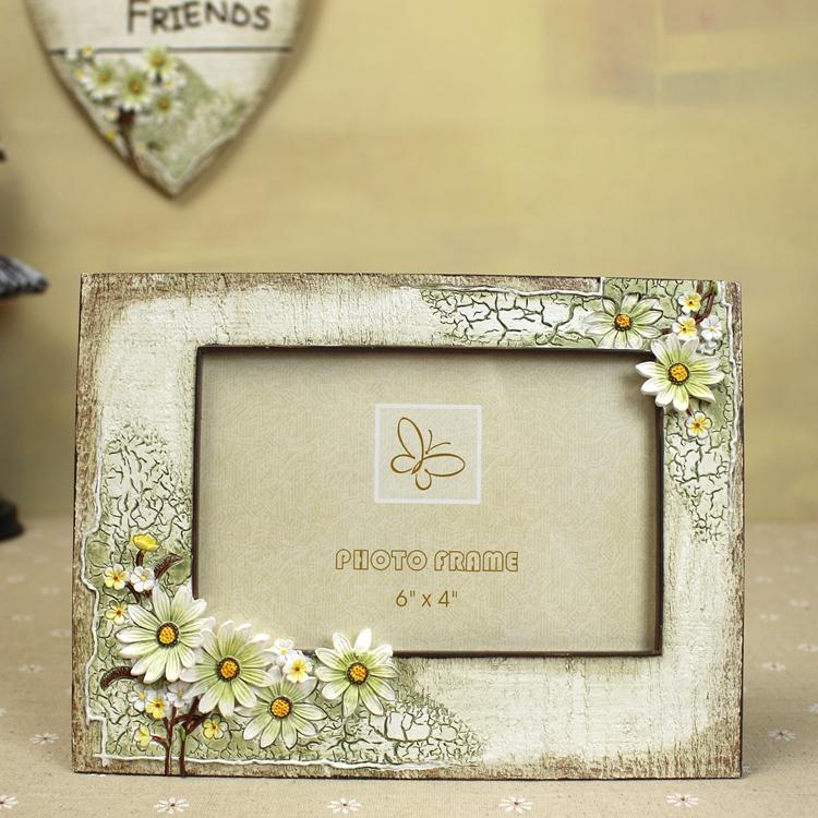 Деревенском стиле Дейзи фоторамка набор 7-дюймовый 6-дюймовый стены фото рамка фото рамка середины осени день творческие подарки