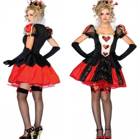 コスプレアニメの女装ハロウィーンギャンブルの女王ゲームの舞台衣装のコスプレパーティー服