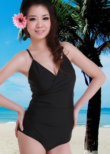 Thin 2015 Korean spa swimsuit skirt type swimsuit adjustable shoulder strap cross strap Specials
