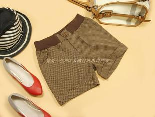 Special clearance rebate does not change the original single elastic cuffs houndstooth shorts shorts boots pants
