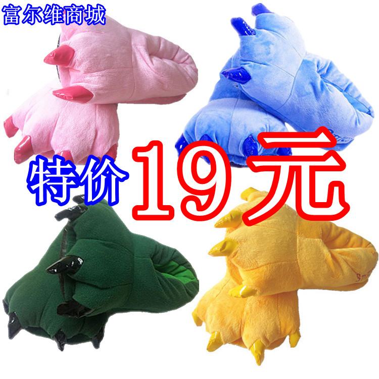 Утолщаются kaolalong cat порошок свиней Тигр Льва панда мультфильм динозавров shidiqipikaqiu Тигр лапы обувь