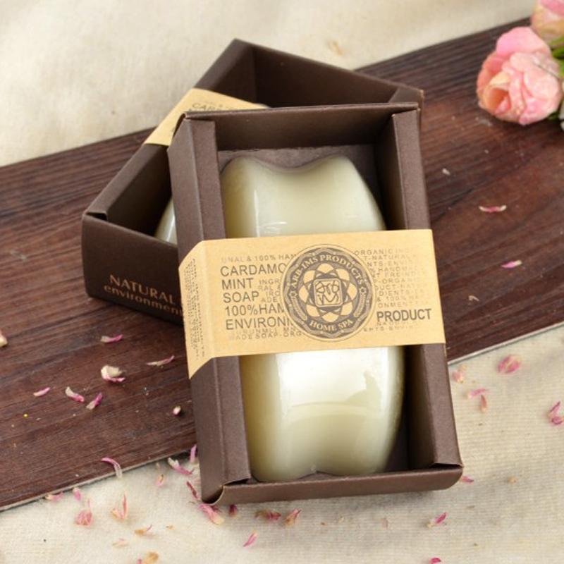 包�] 泰��手工皂羊奶精油皂嫩白�a水保���面洗�沐浴肥皂130克