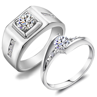 JPF luxury wedding ring 925 silver rings male female couple female ring Day gift for couple rings silver