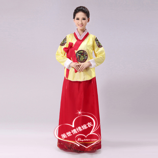 The new studio costume hanbok costumes stage clothes Jewel traditional Hanbok Korean collective dance clothes